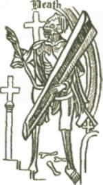 Death frontispiece from original Everyman
