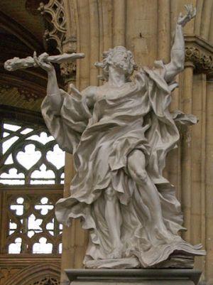 Statue of James the Just in Liege, Belgium