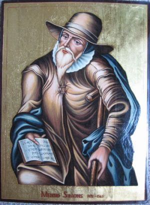 Icon of Menno Simons by Graber Designs