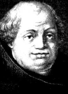 Johann/John Tetzel, salesman of indulgences that aroused Luther's ire