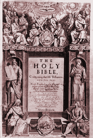 Frontispiece to the original King James Bible