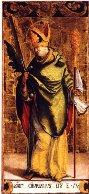 St. Cyprian of Carthage, martyr, public domain