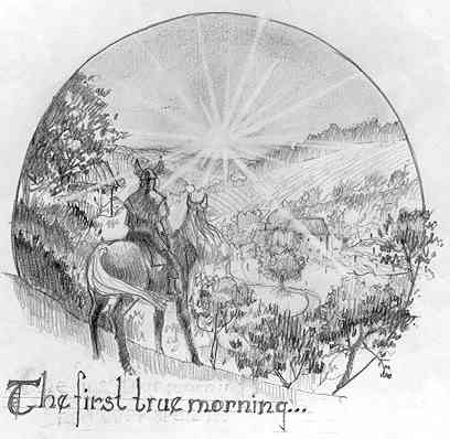 Illustration of first true morning