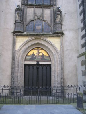 Wittenberg Schlosskirche, Luther nailed his 95 theses to this door