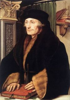 Painting of Erasmus by Hans Holbein in 1523