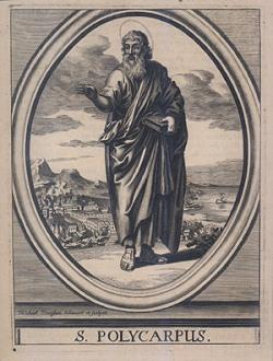 Polycarp of Smyrna preaching