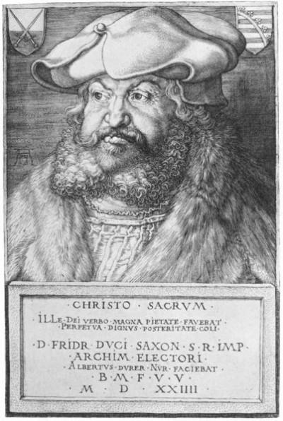 Frederick III of Saxony, 1524 by Albrecht Durer