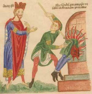 12th century Antichrist painting