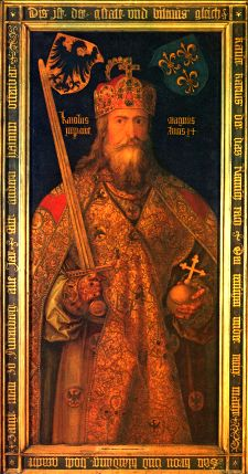 Charlemagne, first holy Roman emperor