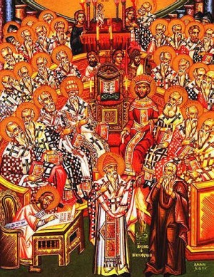 An icon of the Council of Nicea