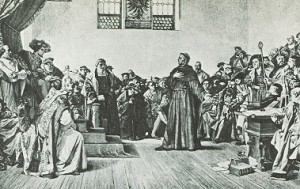Artist's rendering of the Diet of Worms