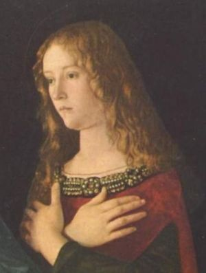 1490 painting of Mary Magdalene by Giovanni Bellini