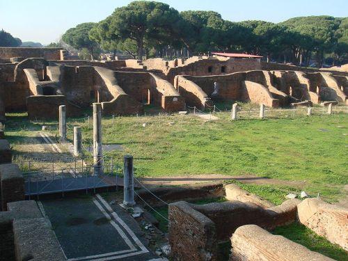Baths of Neptune near Ostia, Italy