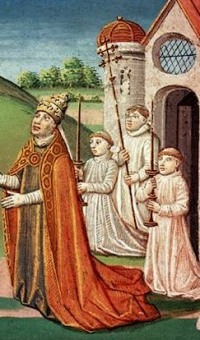 Pope Adrian I in ceremony