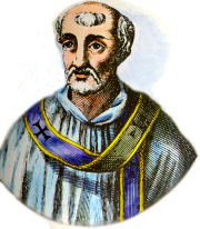 Linus, supposed by the RCC to be the 1st pope after Peter