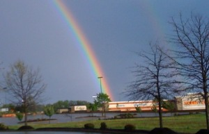 Rainbow over Jackson, Tennessee