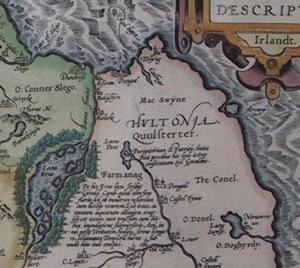 Abraham Ortelius' 1492 map of St. Patrick's Purgatory