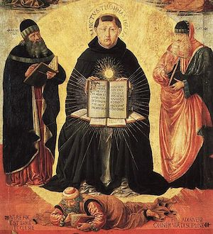 Thomas Aquinas by Benozzo Gozzoli, public domain. Courtesy of Wikimedia Commons.