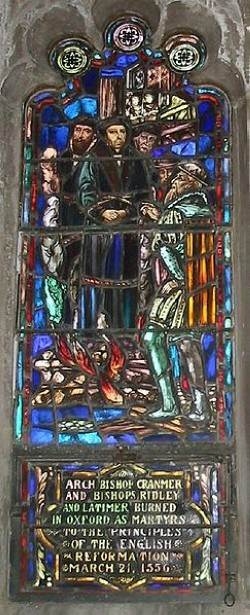 Archbishop Cranmer was martyred by Bloody Mary