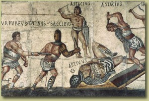 Ancient Mosaic of Gladiators