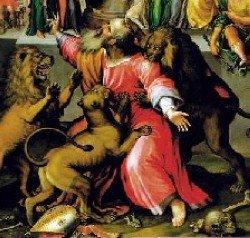 Lions eating Ignatius of Antioch