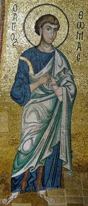 12th century mosaic of Thomas the apostle