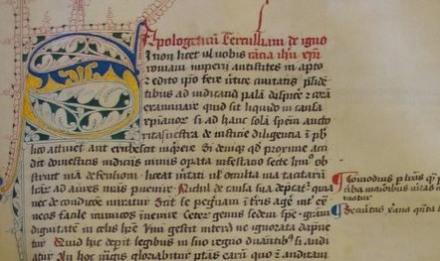 Codex Balliolensis: Tertullian's Apologetics